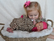 Our two great nieces - my nephew's little girls.