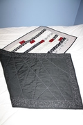 Table runner - 60 X 24 - Back and quilting detail