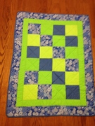 blue/green baby quilt
