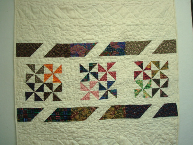 back of Whirly Gig quilt