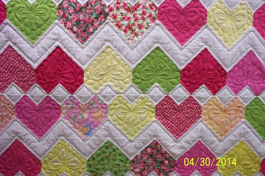 Close up of Baby quilt