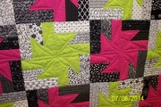 Close up of quilting on my bday quilt