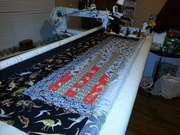My grandson, Ezra's, Jelly Roll Race quilt.