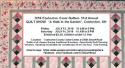 Coshocton Canal Quilters Quilt Show 2018