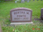 Bertha Ponto's headstone