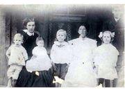 Barnie, Birdie, Jessie Nanna Wolfe Hanney and three of her children