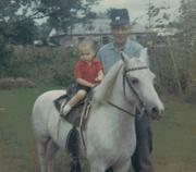 Grampa and me.