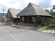 Classic houses of old wooden Pruchnik