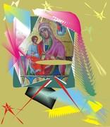 Рождественската Богородица - компютърна графика Анна Зографова