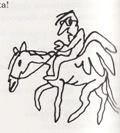 Турхан - карикатура, пегас 2