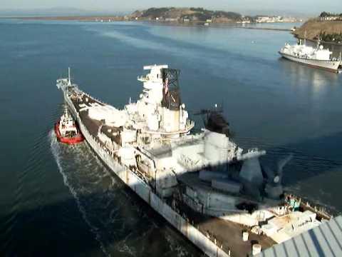 USS IOWA Moving closer to San Pedro