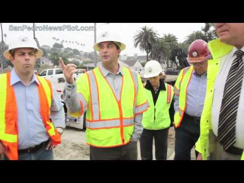 Los Angeles City and County officials examine San Pedro Landslide