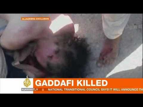 (18+) Al Jazeera: Muammar Gaddafi dead - video