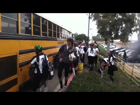Port Of Los Angeles High School Softball 2013 Arrives At CSUDH