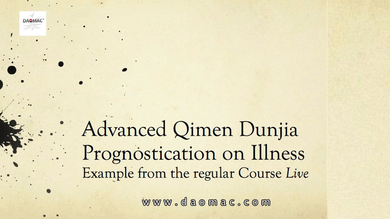 Qi Men Dun Jia Prognostication Illness - Master Class Dr. Alejandro Penataro  .mov