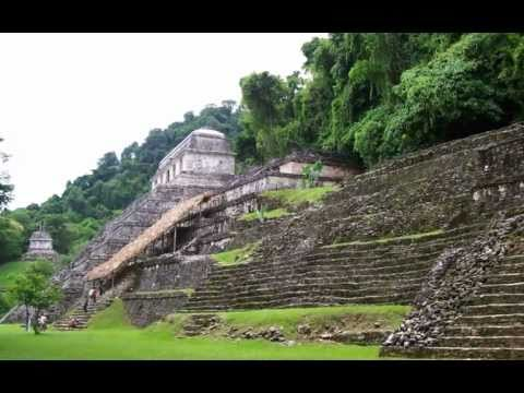 Pacal Votan & Red Queen -Twin Jade Mask and the two adjacent tombs in Palenque, México Yucatan