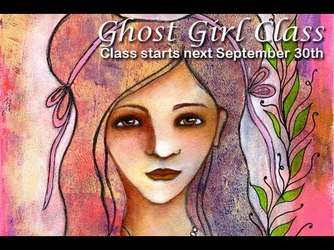 Join my Ghost Girls Class. A mixed media portrait class