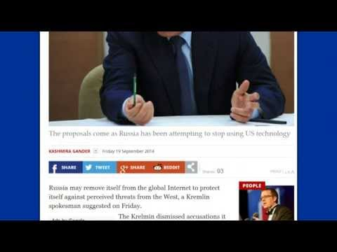 Plan to remove Russia from Global Internet