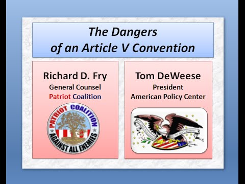 Tom DeWeese on Article V (Part One)