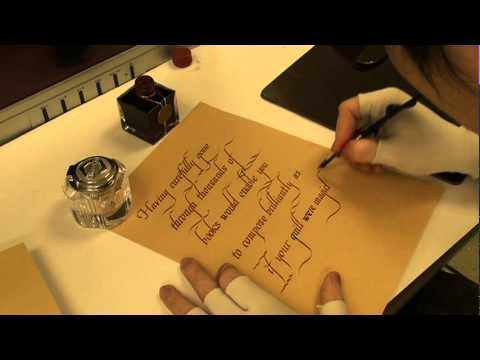 韓玉青老師上課示範-古典文字藝術書法Italic花式-杜甫詩選
