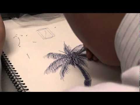 韓玉青老師-實踐大學創意開發與設計素描課 - 寫實風格樹的畫法示範