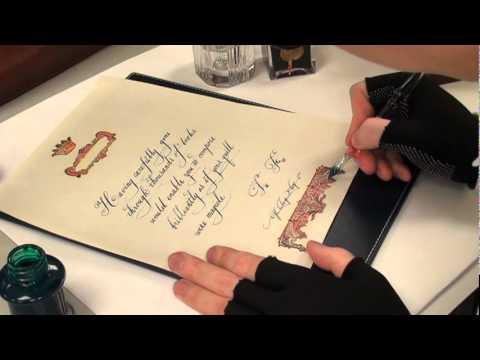 韓玉青老師教學-美術書法結合插畫設計-細部勾勒蟲膠墨水強化
