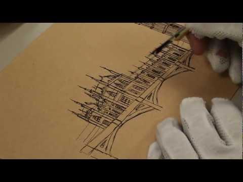 韓玉青老師-實踐大學美術設計班-倫敦大笨鐘(Big Ben)徒手速寫示範(1)