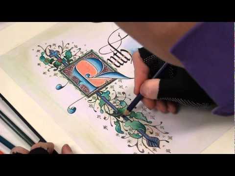 韓玉青老師上課示範-(中世紀風格)文字造型設計搭配古典藝術插畫B.MPG