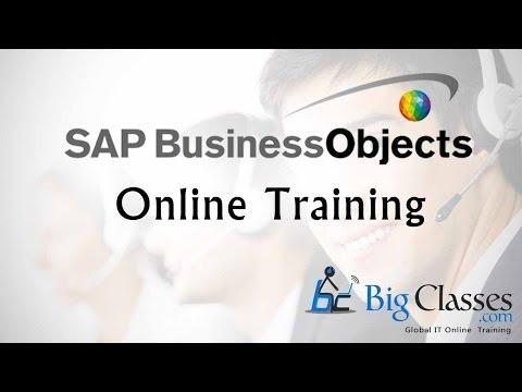 SAP BO  4.1 Online Training   BO Tutorials
