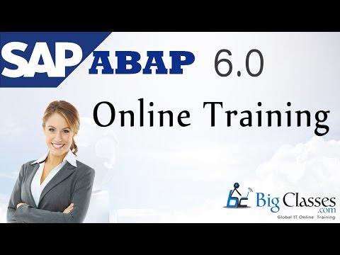 SAP ABAP Online Training   ABAP Video Tutorials