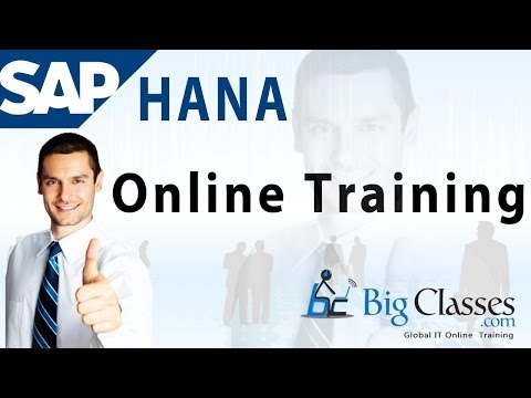 SAP HANA Online Training   SAP HANA Webinar Tutorials