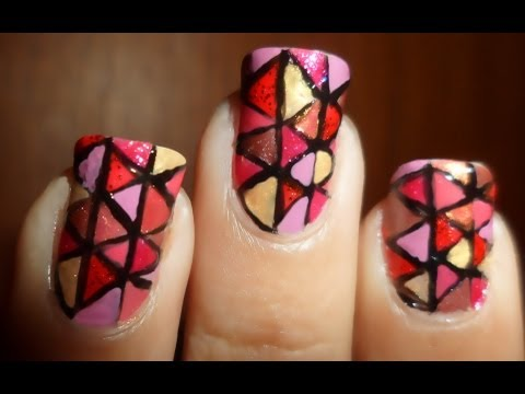 Colorful Geometric Tribal Nails / Uñas Geométricas Coloridas Tribales
