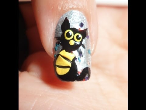 Easy Black Cat Nails - Requested -
