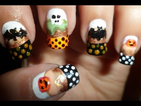 Creepy Treats ~ Halloween Cupcake Nails!
