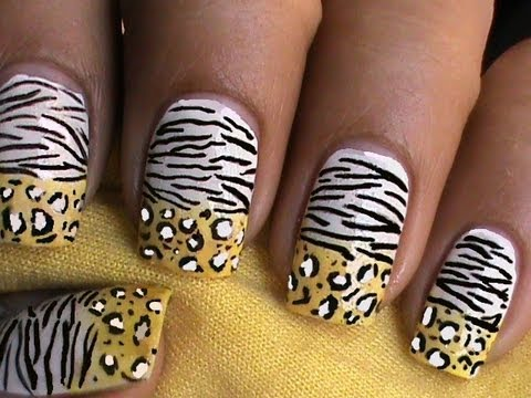 Leopard Nails Zebra Nail Art Designs Ombre Gradient How To With Nails Design Nail Art About