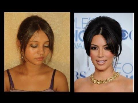 Kim Kardashian Inspired Up Do Hair style Tutorial Feet T.Mart.Com
