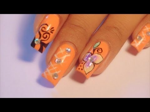 3 in 1 Nail Tutorial & Swarovski Crystal Review