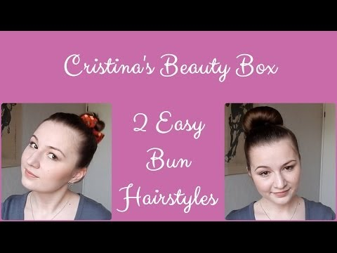2 Easy Everyday Bun Hairstyles for Layered Hair