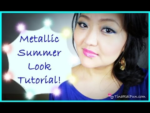 Metallic Spring Summer Look Tutorial