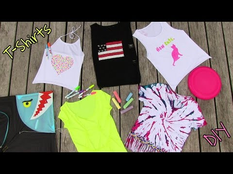 DIY Clothes! 5 DIY T Shirt Projects.
