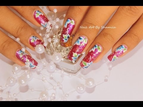 Nail Art Acrylic Paints BPS Review+ One Stroke Flower Nail Tutorial