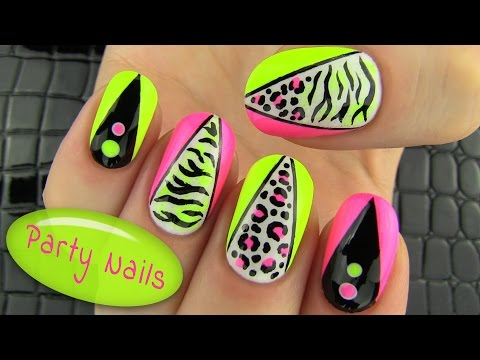Party Nails! Nail Art Collab with elleandish // Janelle