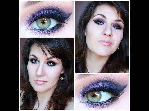 Czerń z fioletem-makijaż studniówkowy, imprezowy, wieczorowy/ Inglot/ Zoeva