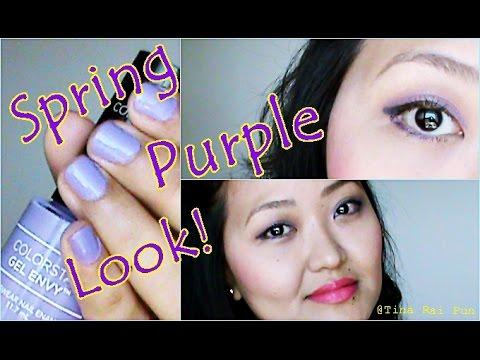 Easy Purple MAKEUP I TUTORIAL I Tina Rai Pun I #SpringLook
