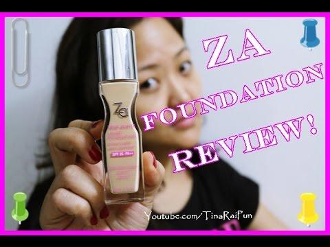 ZA True White Liquid Foundation DEMO/REVIEW I Tina Rai Pun I Indian Nepali Beauty  Vlogger