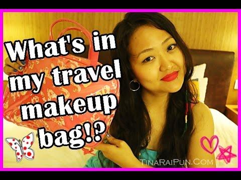 What's in my Travel Makeup Bag!? Holiday Essentials I Tina Rai Pun