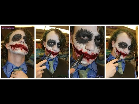 Heath Ledger in Inspired Joker SPFX makeup by VisualEyeCandy