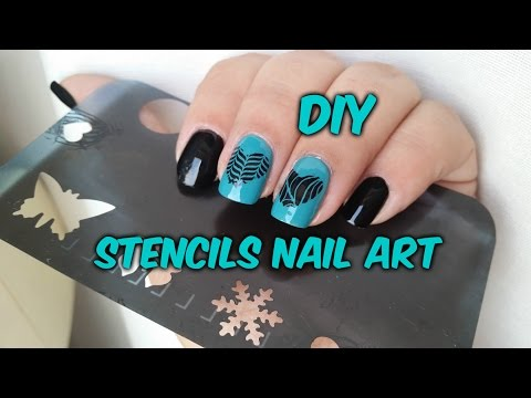 DIY: Stencils nail art. Konadicure