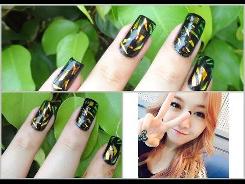 KPOP Nails: Girl's Day Minah Foil Nails