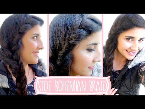 Bohemian Side Braid Hairstyle Tutorial